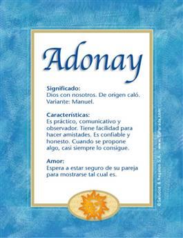Nombre Adonay