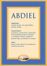 Nombre Abdiel