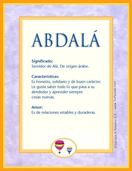 Nombre Abdalá