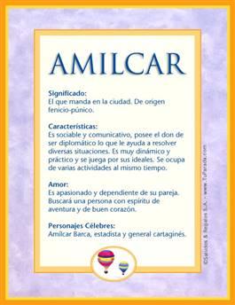 Nombre Amilcar