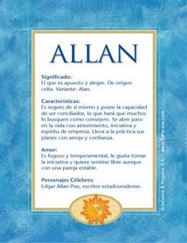Nombre Allan