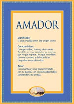 Nombre Amador