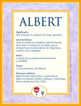 Nombre Albert