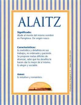 Nombre Alaitz