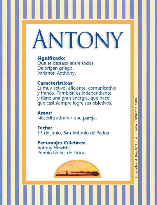 Antony, imagen de Antony