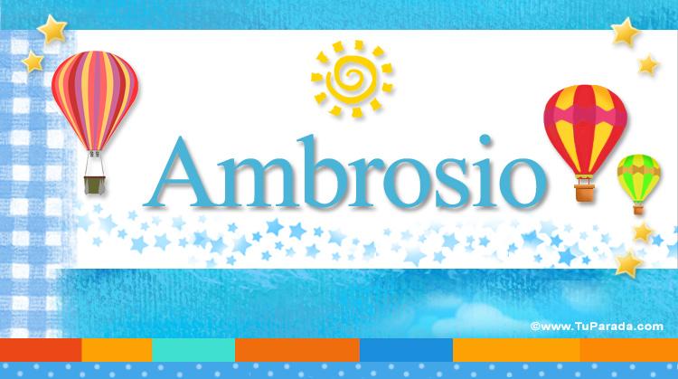 Ambrosio, imagen de Ambrosio