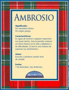 Nombre Ambrosio