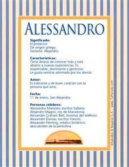 Nombre Alessandro