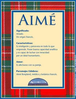 Nombre Aimé
