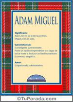 Nombre Adam Miguel