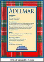 Nombre Adelmar