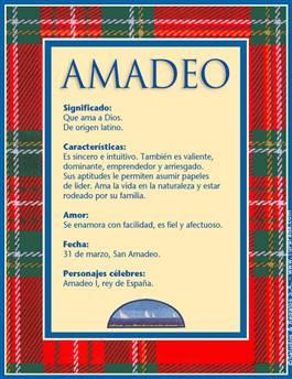 Nombre Amadeo