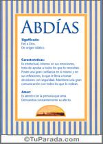 Nombre Abdías