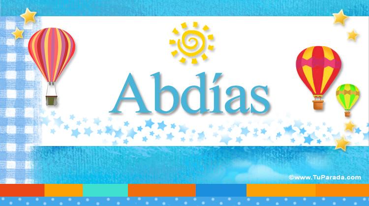 Abdías, imagen de Abdías