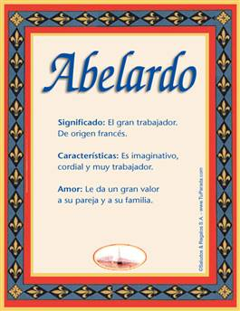 Nombre Abelardo