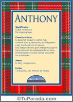 Nombre Anthony