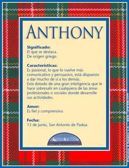 Nombre Anthony