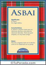 Nombre Asbai