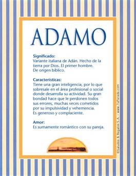Nombre Adamo
