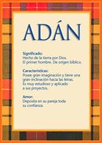 Nombre Adán