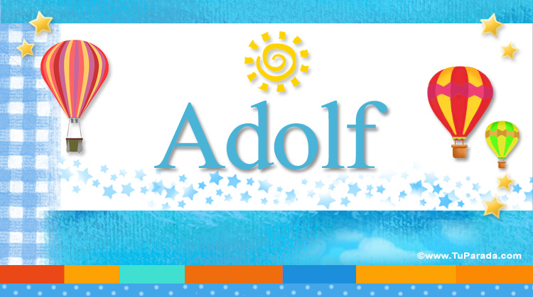 Adolf, imagen de Adolf
