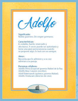 Nombre Adolfo