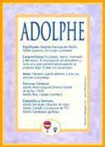 Nombre Adolphe