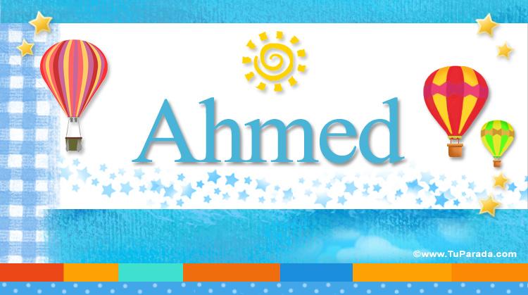 Ahmed, imagen de Ahmed