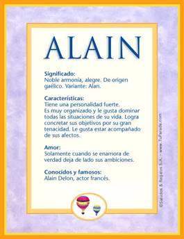 Nombre Alain