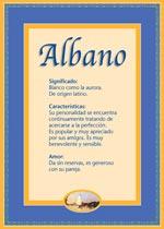 Nombre Albano