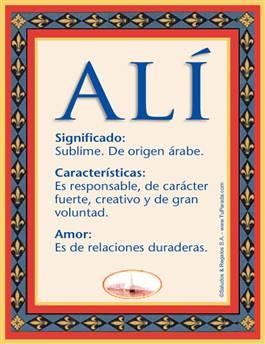 Nombre Alí