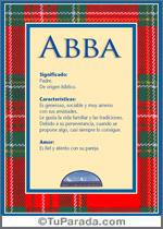 Nombre Abba