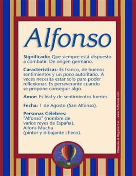 Nombre Alfonso