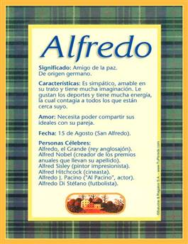 Nombre Alfredo