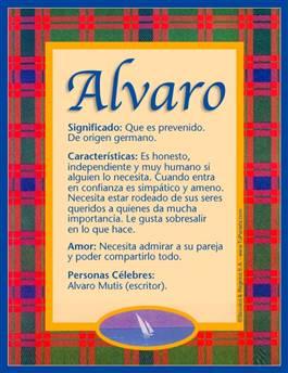 Nombre Alvaro