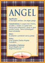 Nombre Angel