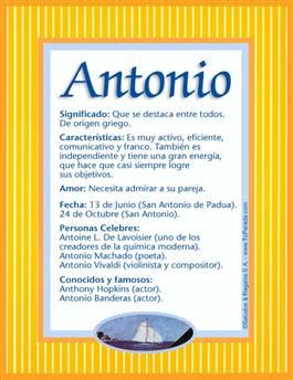 Nombre Antonio