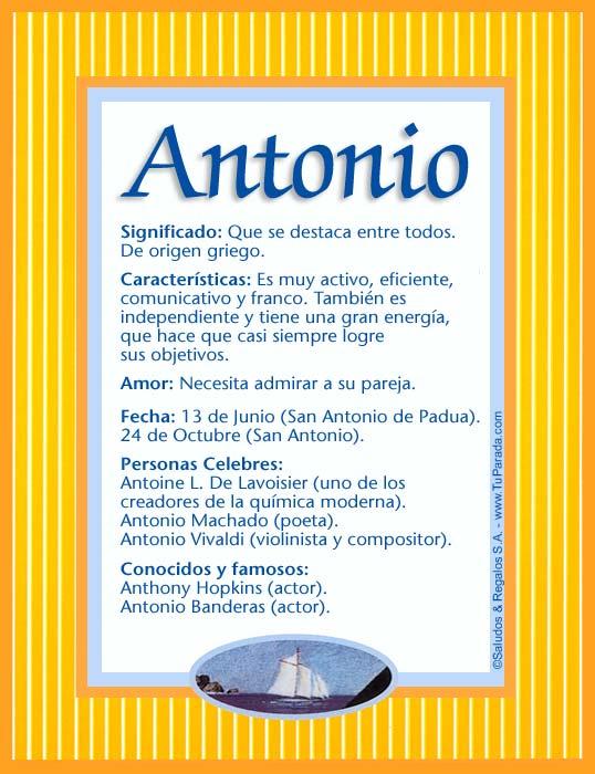 Antonio, imagen de Antonio