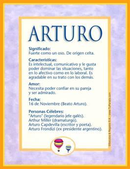 Nombre Arturo