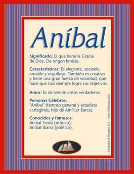 Nombre Aníbal