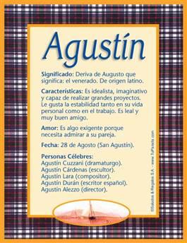 Nombre Agustín