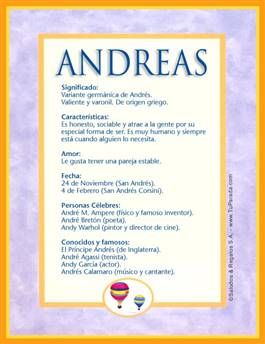 Nombre Andreas