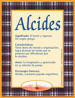 Nombre Alcides