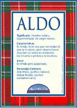 Nombre Aldo