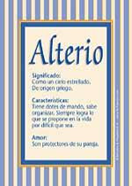 Nombre Alterio