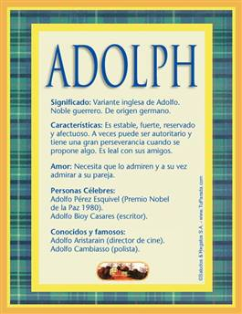 Nombre Adolph