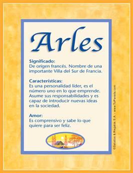 Nombre Arles