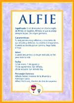 Nombre Alfie