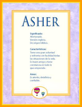 Nombre Asher