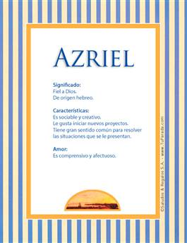 Nombre Azriel